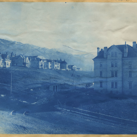 Director's Residence, President's House, Experiment Station, Old Main, Mechanic Arts, and the Dormitory, 1902 (141c)