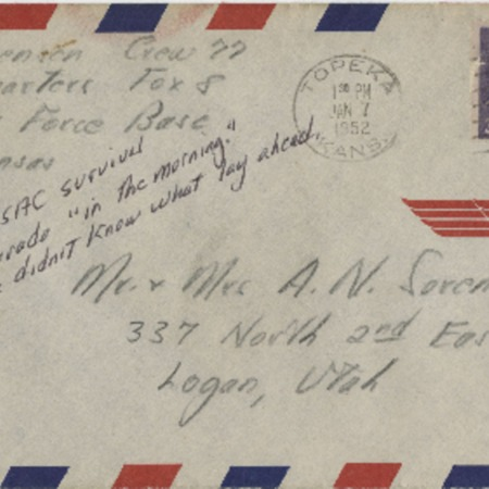 Personal letter from Robert Sorensen to Alma Sorensen, December 4, 1952