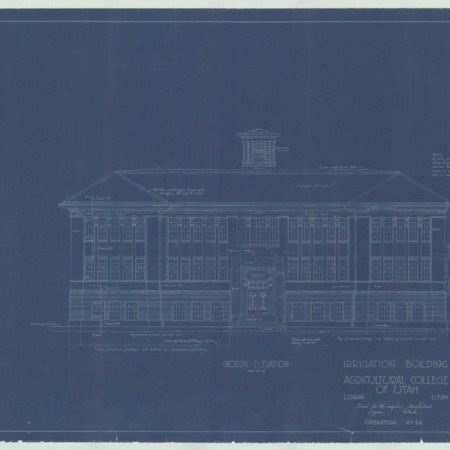 Irrigation Building (Ray B. West) blueprints, c. 1918