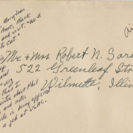 Correspondence from Alma N. Sorensen to Robert N. Sorensen, May 9, 1956