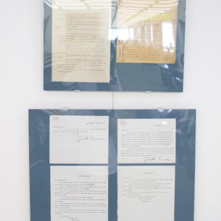 Jack London Exhibit, Sinclair Lewis Plots Panel, view 4