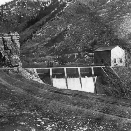 Blacksmith Fork Canyon, First Dam, ca. 1920