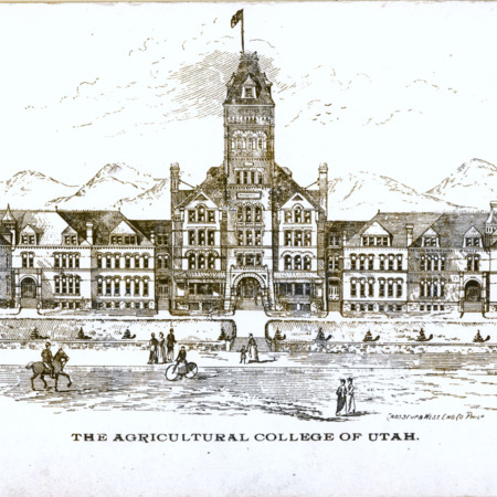 Old Main architectural drawing, 1892