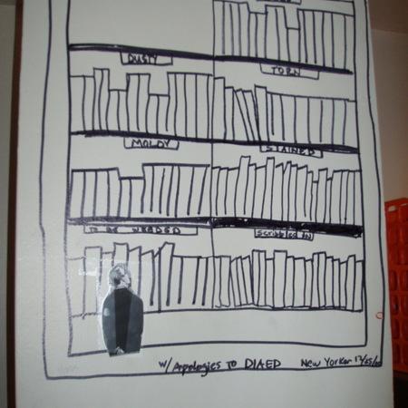 Merrill Library graffiti - New Yorker sketch<br />