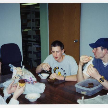 Left to right: Camille Gooch, David Duvall, Nick Edvarchuk<br />