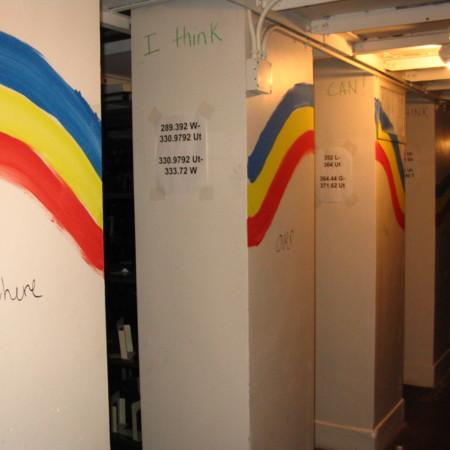 Merrill Library graffiti - Rainbow