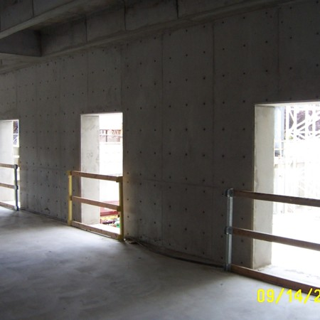 View of partially constructed, 1st floor room<br />