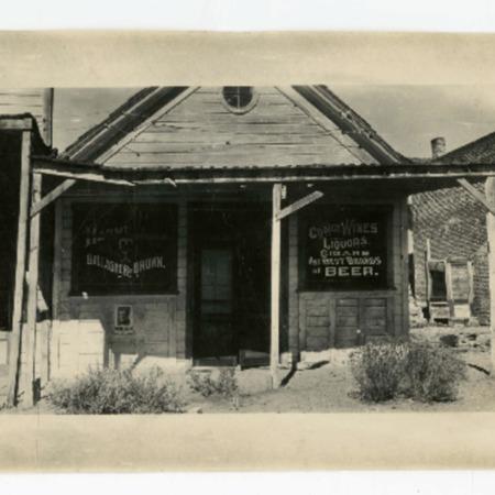 Gallagher & Brown liquor store/saloon in Aurora, Nevada, exterior