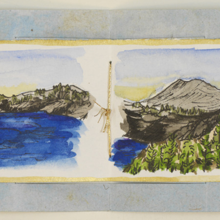 Crater Lake accordion book, page 5