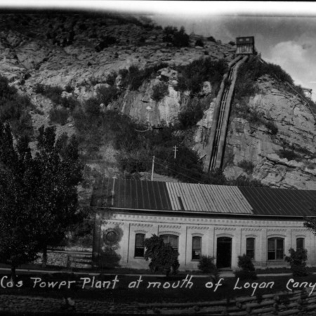 Utah Power & Light Cos. Power Plant at mouth of Logan Canyon, Cache Co., Utah
