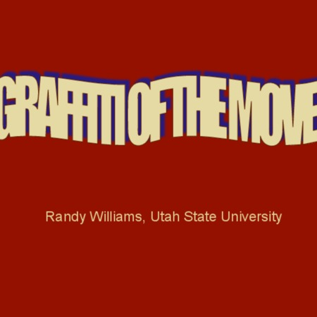 "Presentation slides: ""Graffiti of the Move"" presented at the American Folklore Society Conference: Milwaukee, WI"