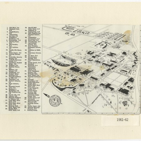 Utah State University Campus Map, 1961-62