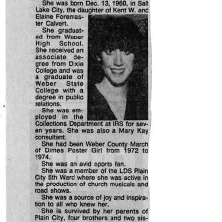 Obituary Joan Calvert