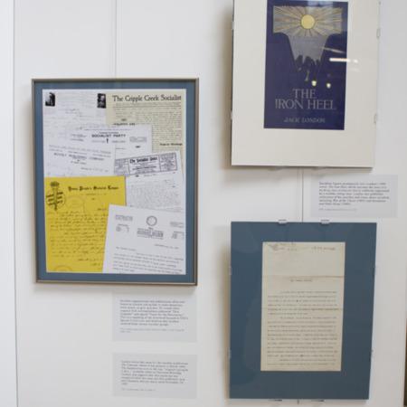 Jack London Exhibit, Boy Socialist Panel, view 2