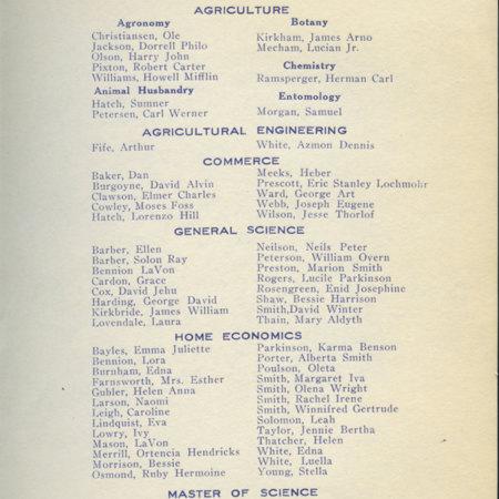 1919 UAC Commencement Program Page 2