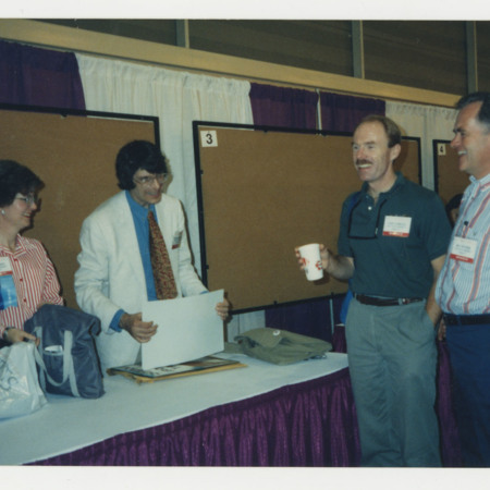 Richard Schockmel, Deleyne Wents, John Elsweiler at the American Library Association booth<br />