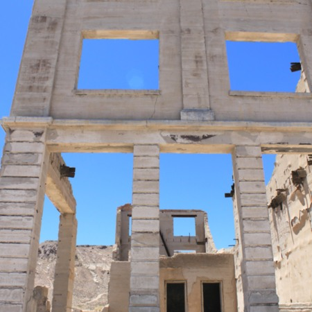 Bare Bones Building in Rhyolite
