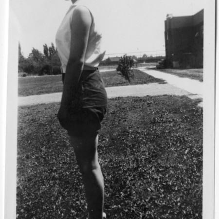 4-H Club girl demonstrating good posture