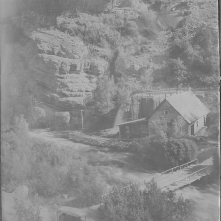End of the Hercules Power Co. canal, Logan Canyon