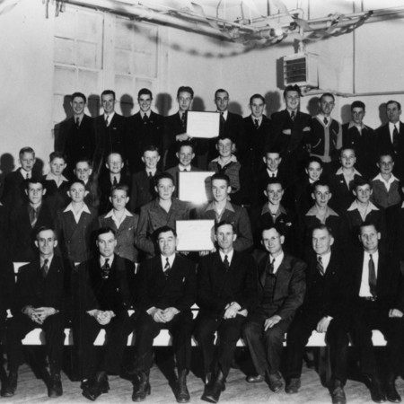 Priesthood gathering in Mendon, 1940's