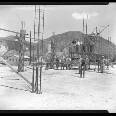 Early stages of the Student Union Building construction, c. 1951