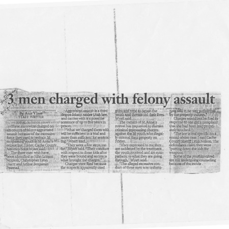 Three men charged with felony assault