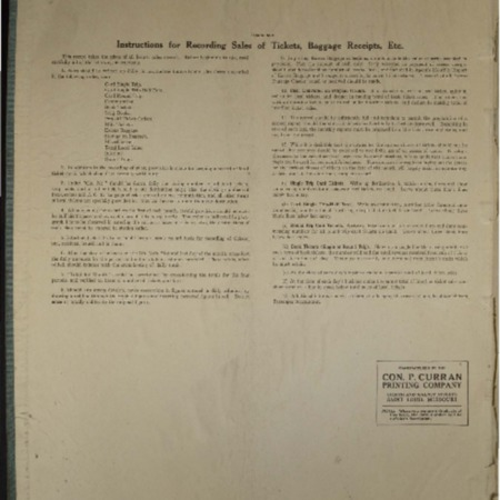 U.I.C. Mendon Station Ticket Sales and Baggage Receipts, November, 1931<br />