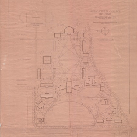 1912 Master Plan for the Arrangement of Buildings at the Utah Agricultural College