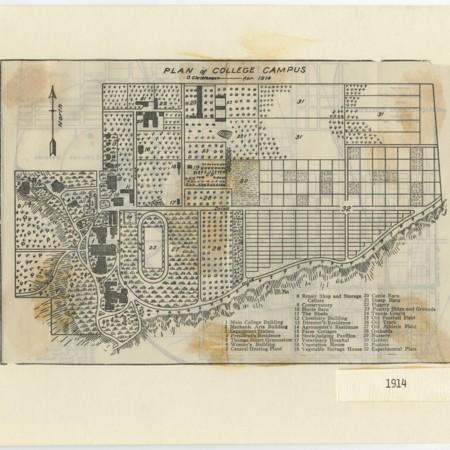 Utah Agricultural College campus map, 1914
