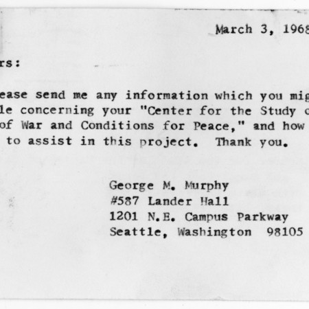 Letter - George M. Murphy