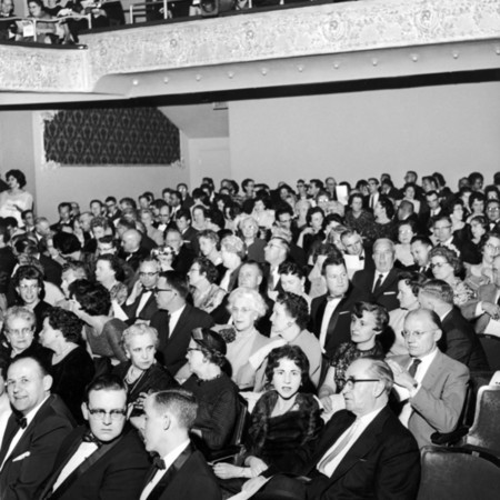 Opening Night at the Lyric Theater for Hamlet, the first production under University auspices, April 3, 1961