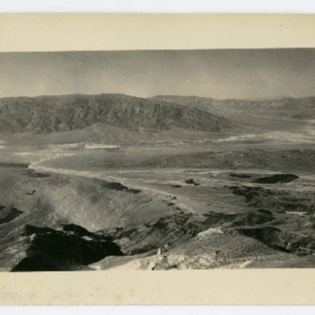 View across Death Valley from Chloride Cliff, 1920s