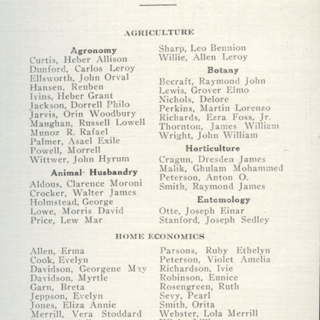 1917 UAC Commencement Program Page 2