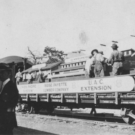Demonstration train in Juab, 1924;
