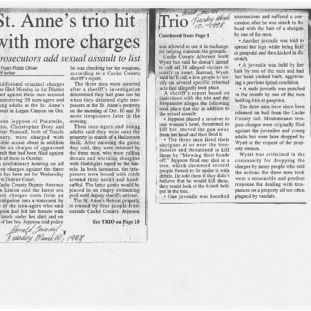 St. Anne's trio hit with more charges