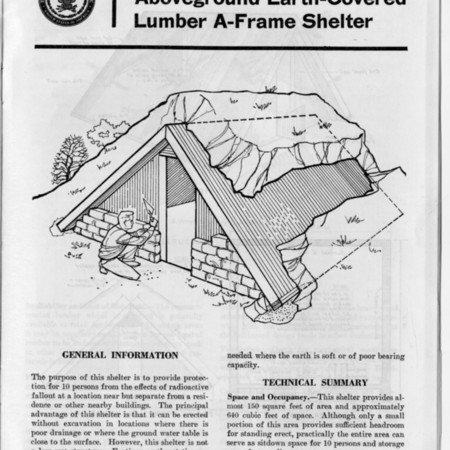 A-frame Fallout Shelter Design