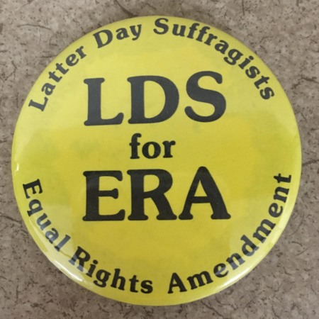 Latter-day Suffragists Protest Button