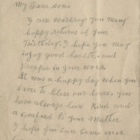 Correspondence from Mary Sorensen to Alma N. Sorensen, 1929