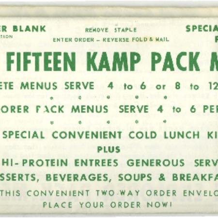 Kamp Pack, 1970