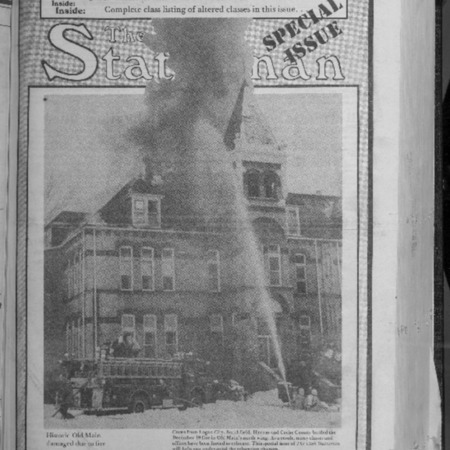 Utah Statesman Old Main fire Special Edition, 1984
