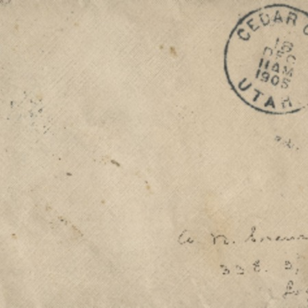 Correspondence from Miss Parry to Alma N. Sorensen, December 17, 1905