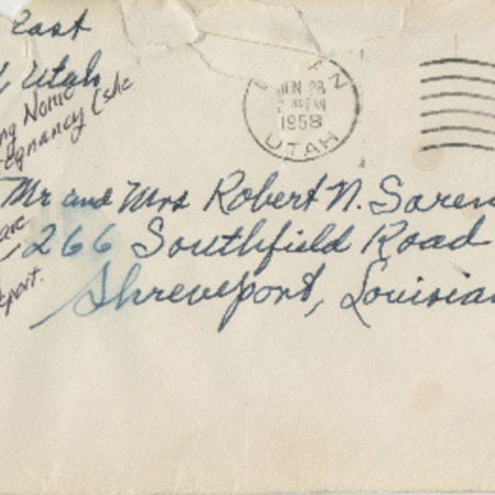 Correspondence from Alma N. Sorensen to Robert N. Sorensen, June 26, 1958