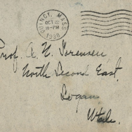 Correspondence from Frank R. A??? to Alma N. Sorensen, October 12, 1938