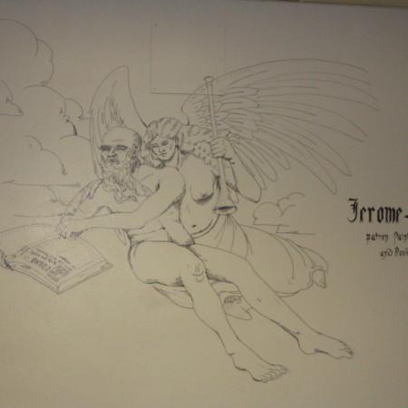 Merrill Library grafitti - Jerome<br />
