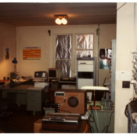 Inside of cable office, 1983.