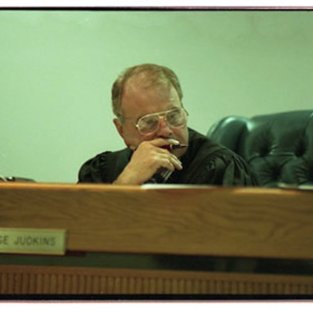 Judge Clint S. Judkins listens to arguments in the courtroom at preliminary hearing - Image 2 of 3
