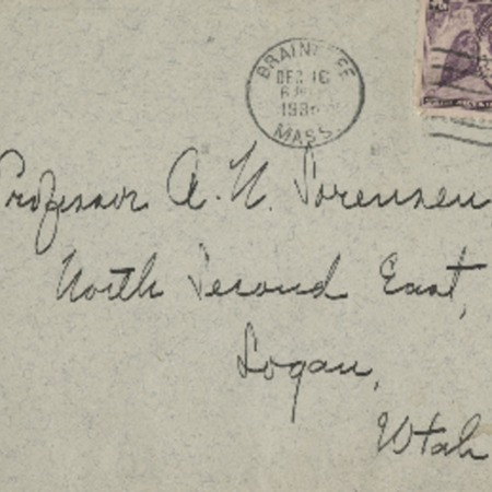 Correspondence from Frank R. A??? to Alma N. Sorensen, December 16, 1935