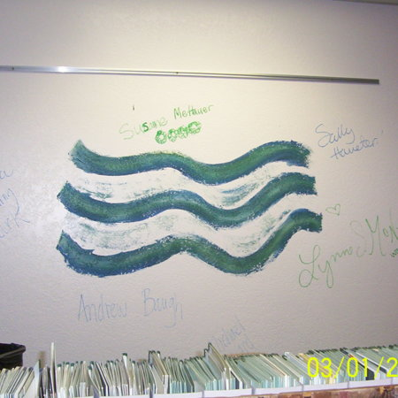 Merrill Library graffiti - Waves<br />
