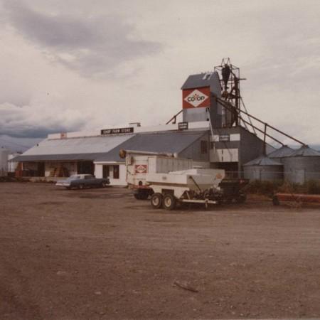 "Back view of the ""Ashley Farmers Union"" Vernal, Utah;"