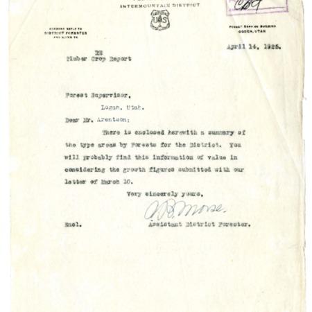 Timber Crop Report, April 14, 1925